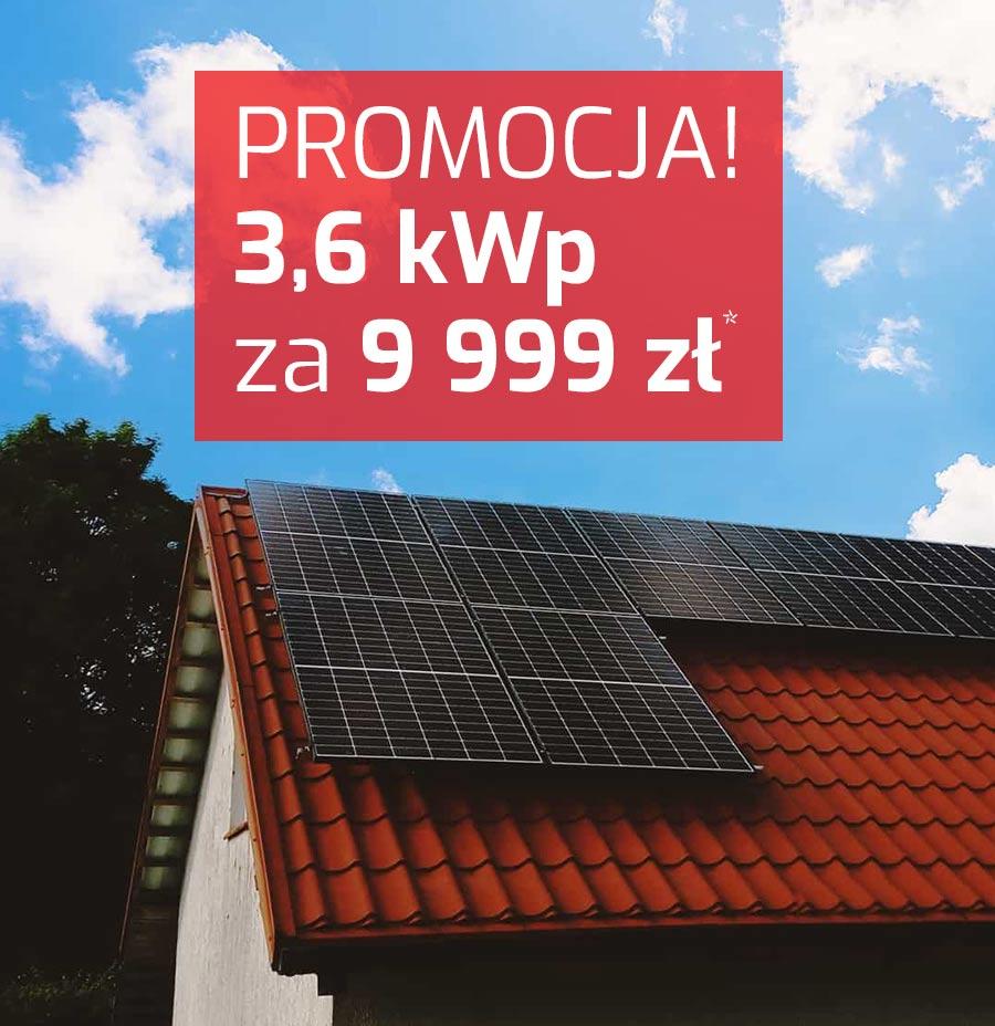 Promocja na fotowoltaikę. Info energia 3,6 kwp cena.