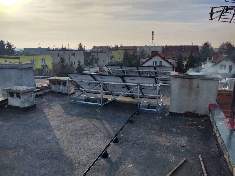 Konstrukcja panele fotowoltaiczne, dach płaski kwidzyn