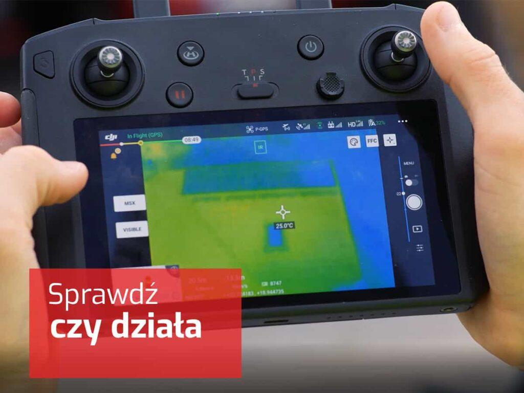 serwis i przegląd fotowoltaika z drona z termowizją